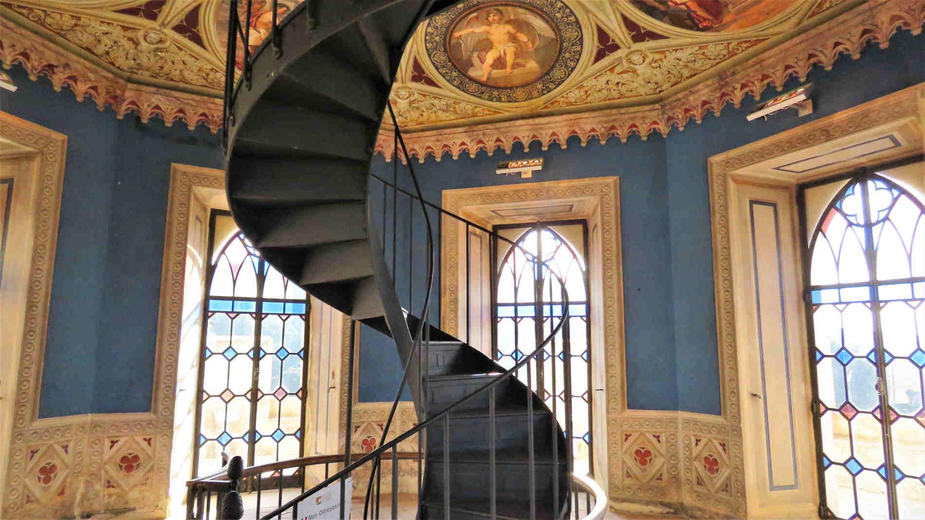 Affreschi nella Torre Mastio del Castello di Corigliano