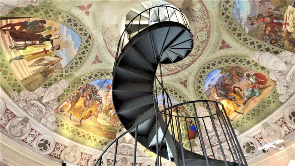 affreschi alla Torre Mastio del Castello Ducale di Corigliano Calabro, Cosenza Calabria