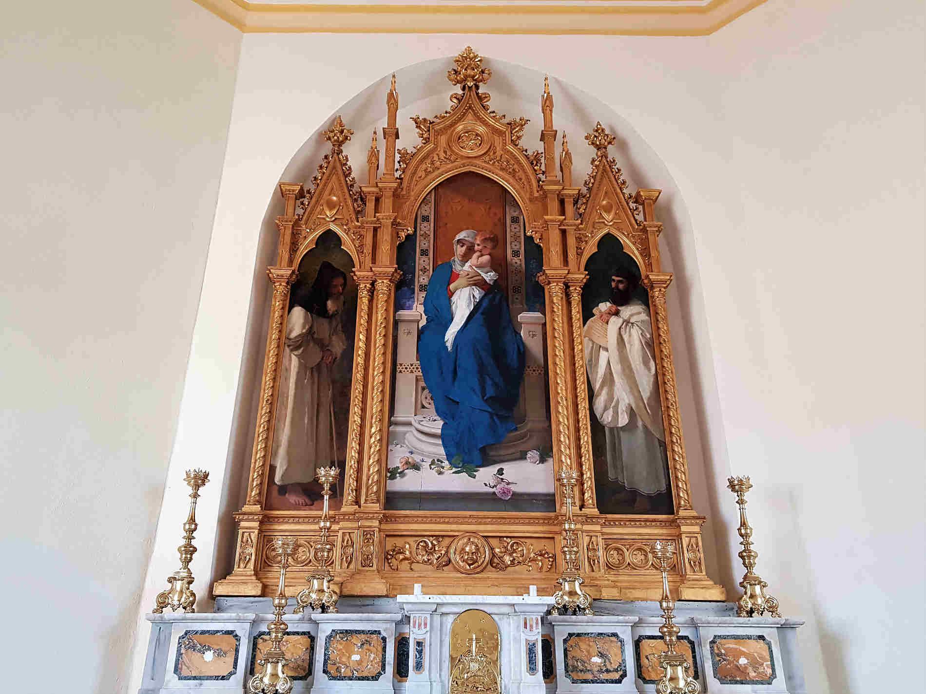 Cappella di Sant'Agostino Cosa vedere nel Castello di Corigliano Calabro - La Madonna delle Rose