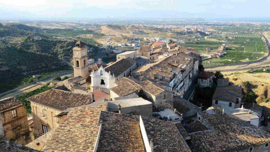 Corigliano Calabro panorama in Calabria con i blogger