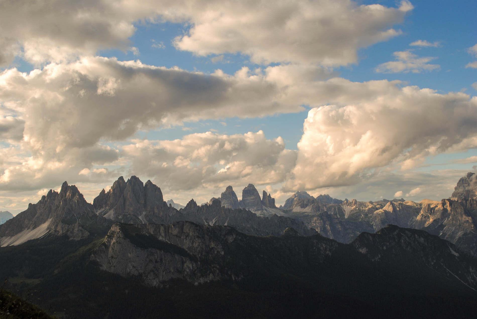 Panorama delle Dolomiti patrimonio dell'Umanità in Italia