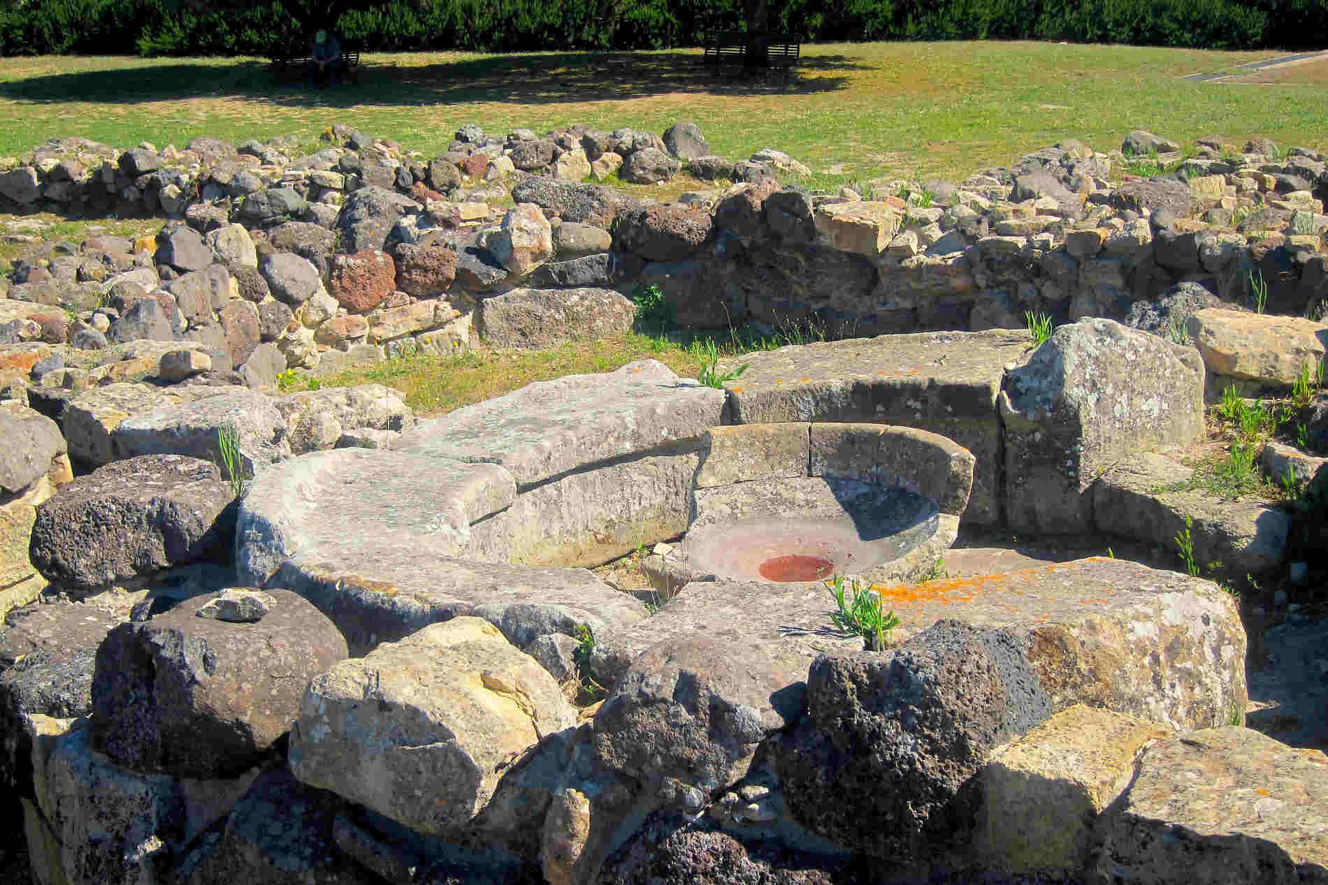 Particolari del nuraghe di Su Nuraxi a Barumini in Sardegna sito Unesco italiano