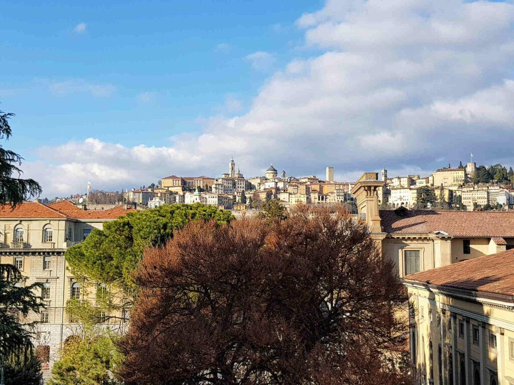 Bergamo Panorama su Città Alta e le sue Mura