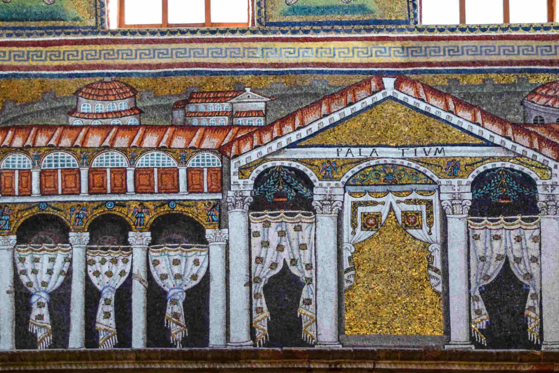 Particolari dei Mosaici a Ravenna sito italiano dichiarato dall'UNESCO patrimonio dell'UMANITA'