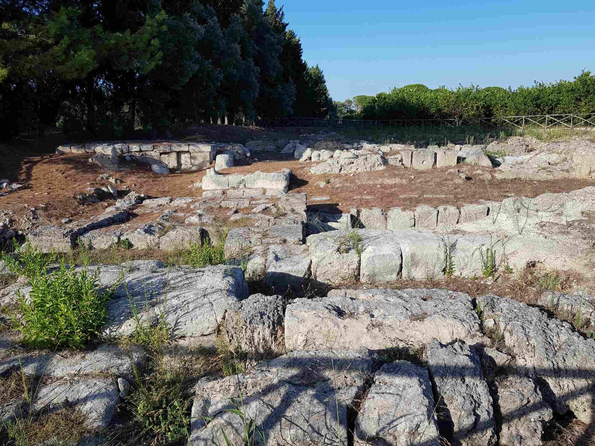 La Casa dei Leoni nel sito archeologico di Locri Epizefiri