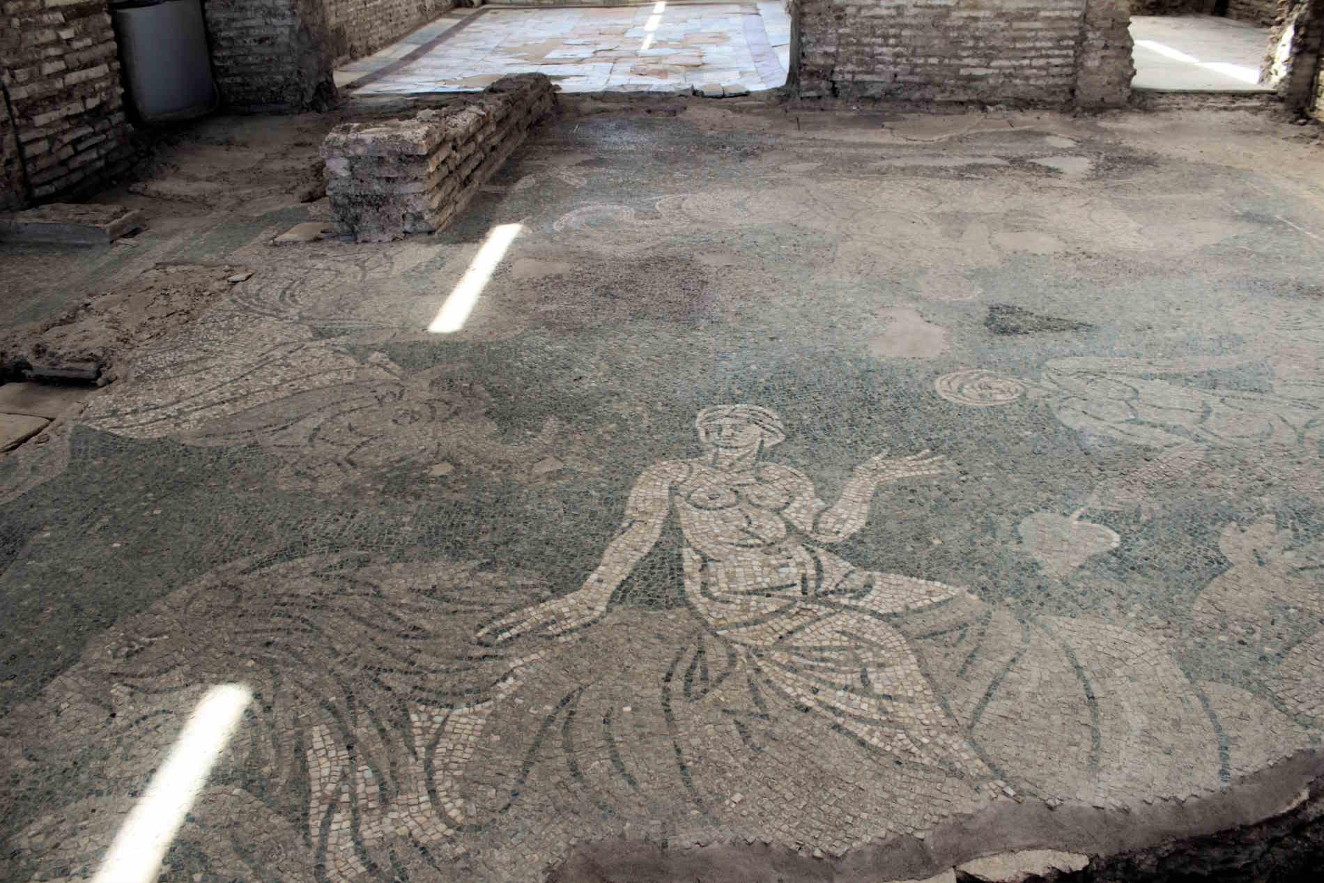 mosaici romanici nella Villa Romana di Casignana contrada Palazzi
