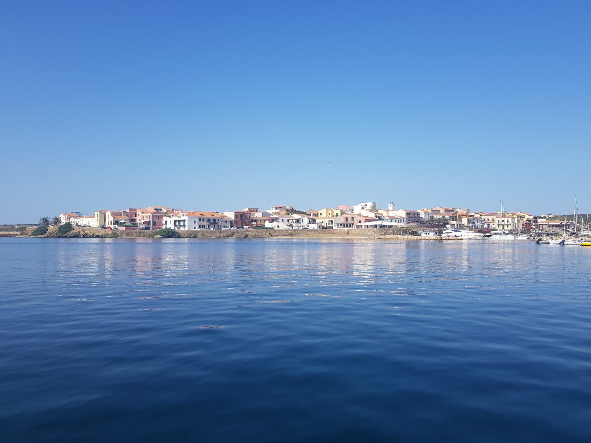 Blu del mare a La Pelosa di Stintino in Sardegna Italia