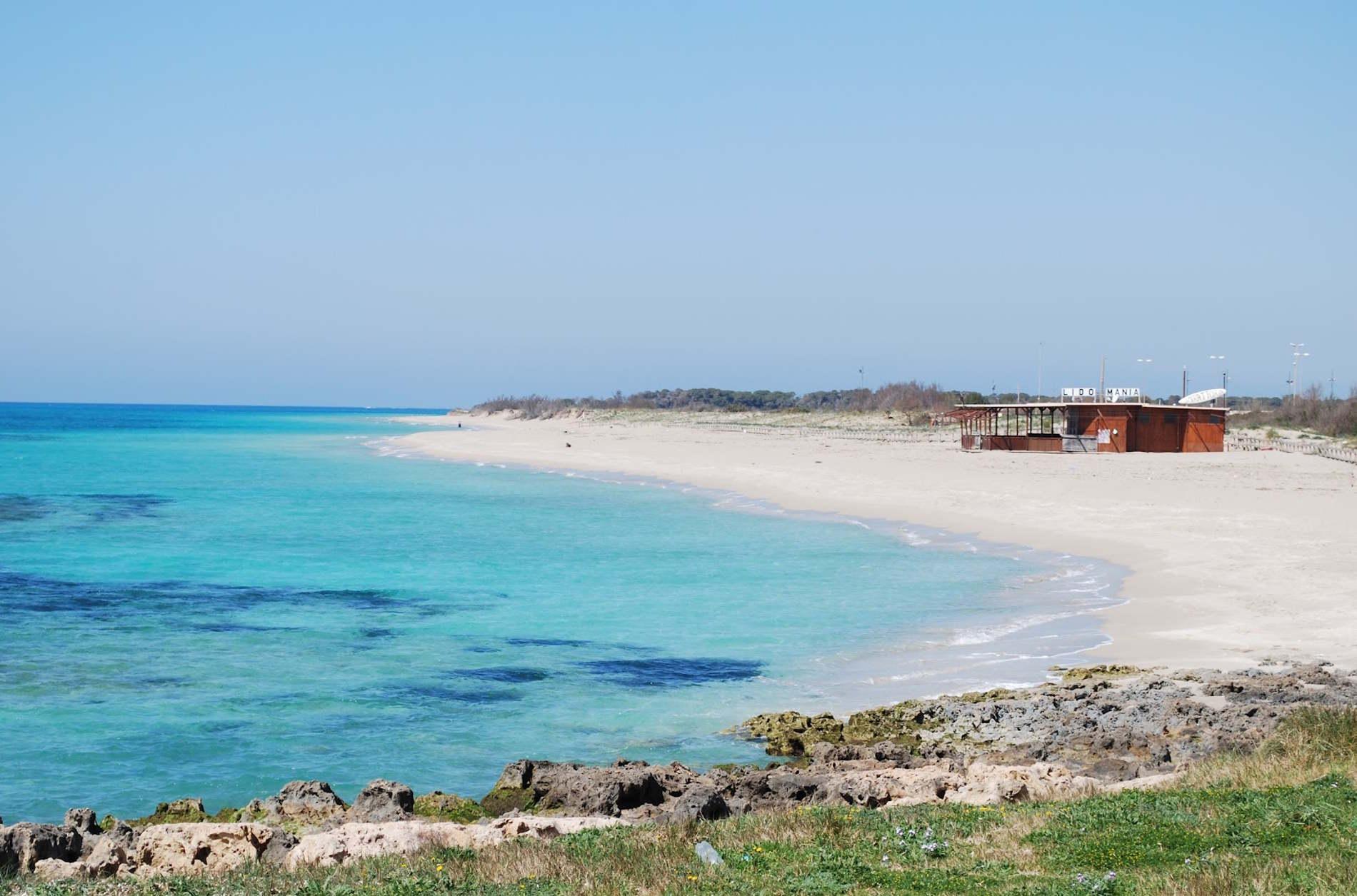 La Spiaggia di Marina di Pescoluse nel Salento in Puglia. spiagge più Belle d'Italia