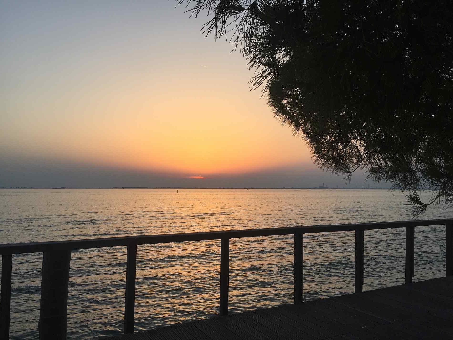 Tramonto sul Lido di Venezia Veneto Italia