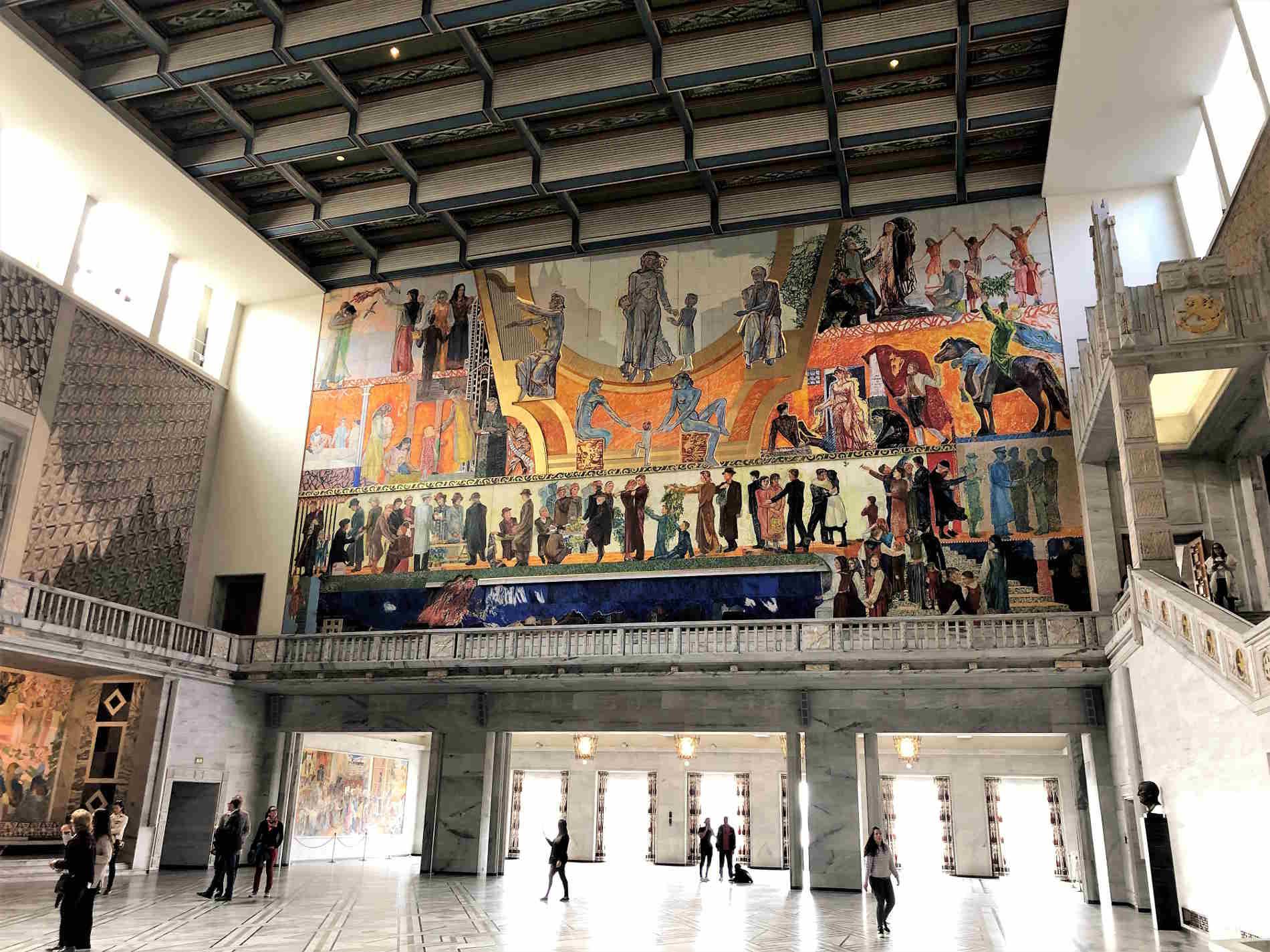 Capitale della Norvegia Oslo La Sala del Municipio di Oslo, denominata Sala del Nobel per la Pace Norvegia Europa