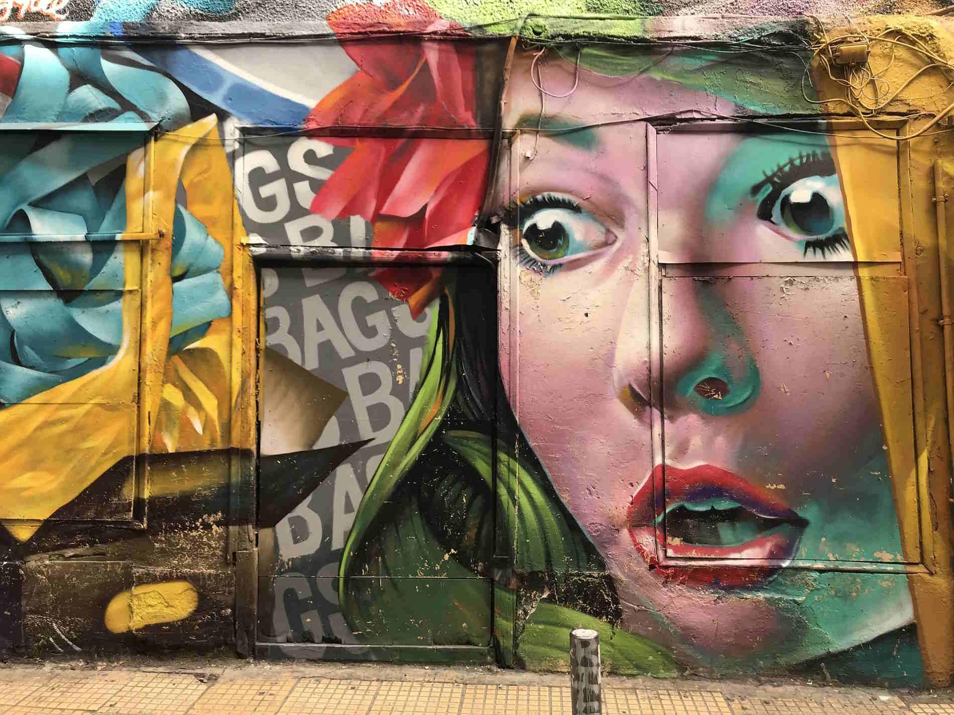 Street art ad Atene Capitale della Grecia Europa