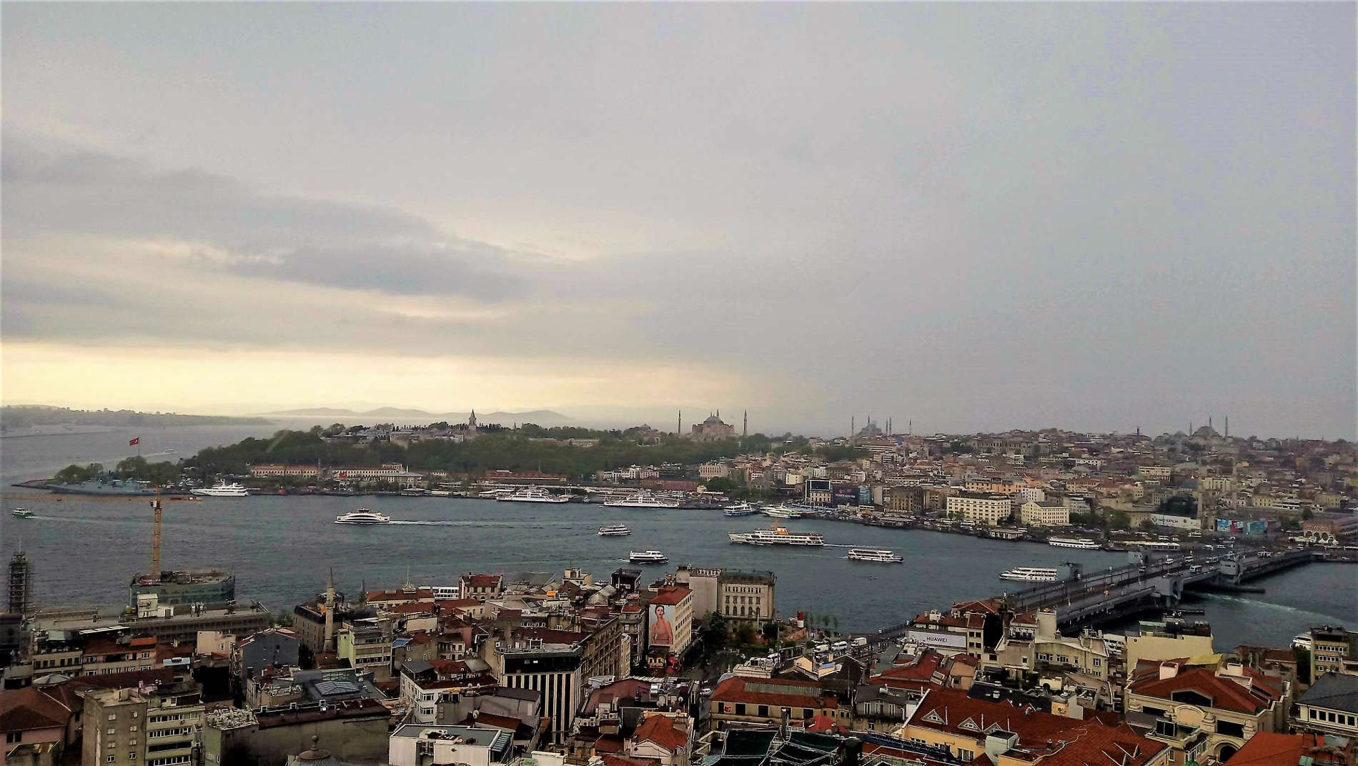 Istanbul capitale della Turchia Panorama dalla Torre di Galata