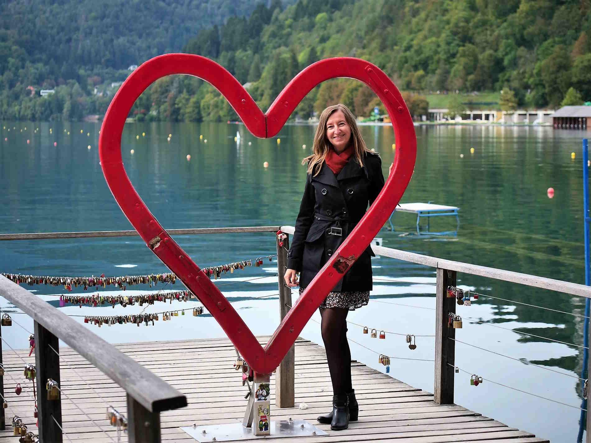 Sara Terpin al Lago di Bled in Slovenia