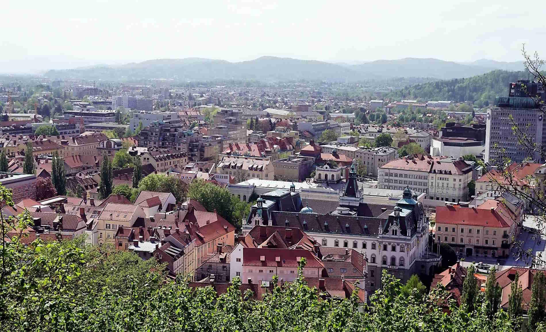 Lubiana capitale della Slovenia vista dall'alto Europa