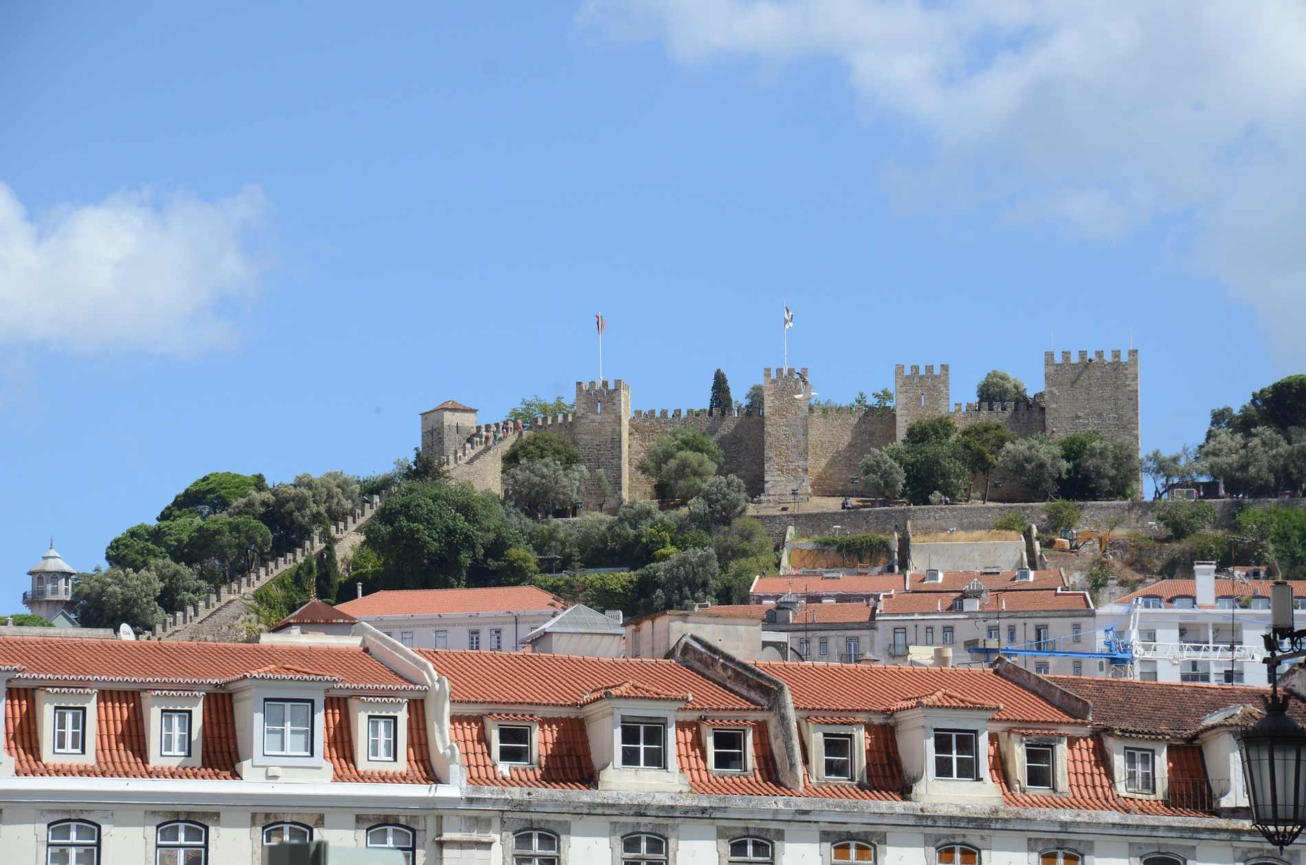 Capitali Europee da visitare: Panorama sul castello di Sao Jorges a Lisbona Europa