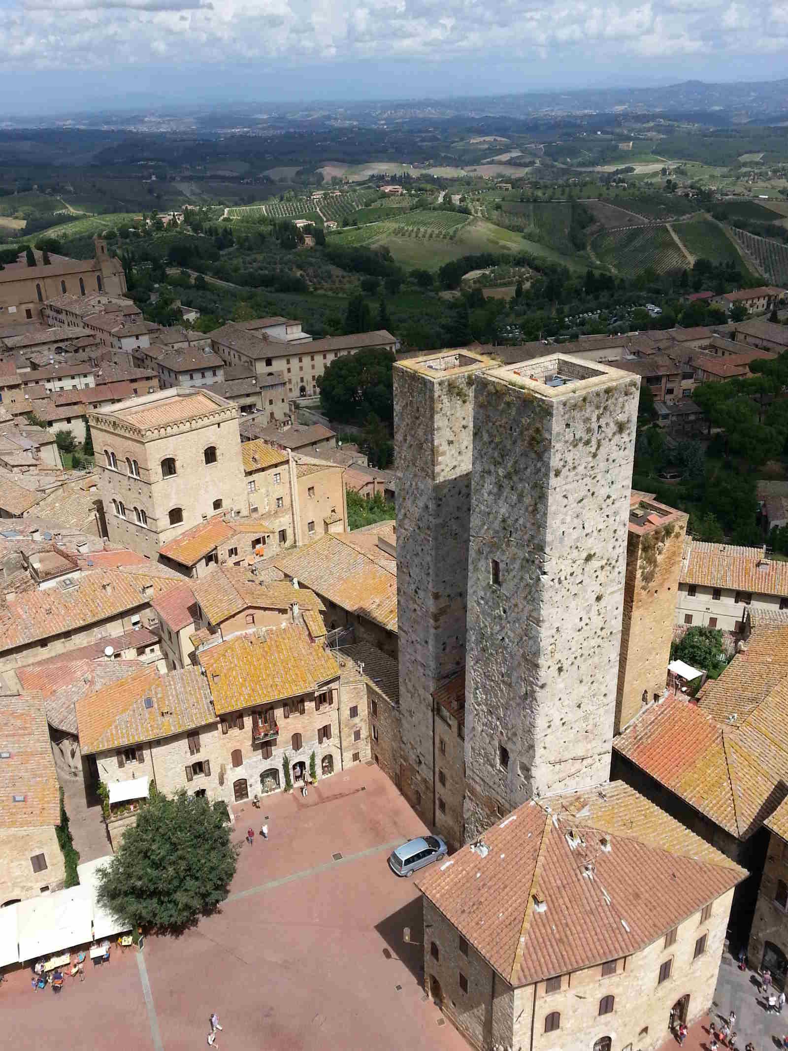 Panorami dall'alto delle Torri San Gimignano