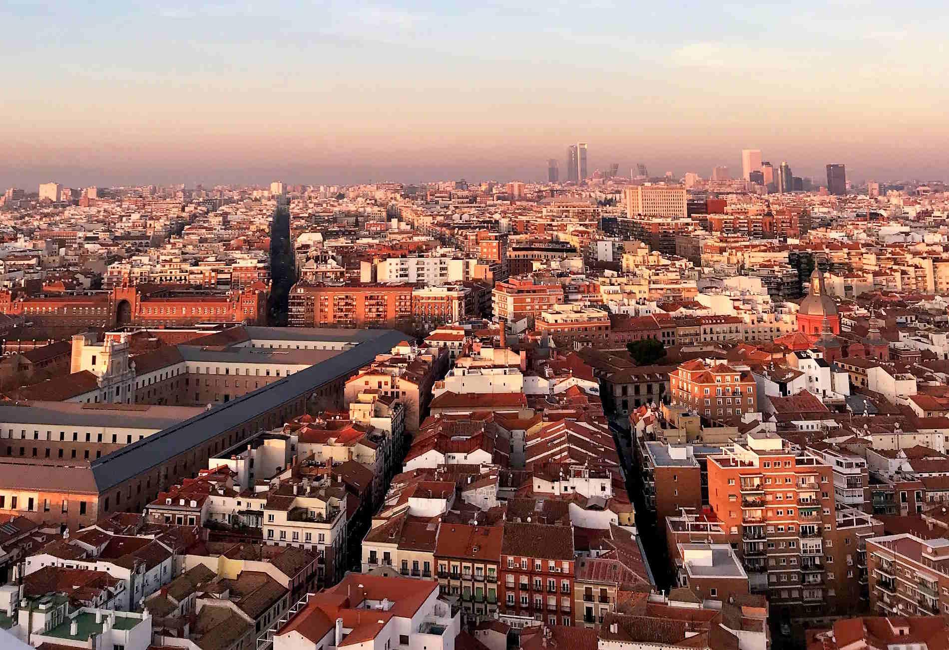 Panorama su Madrid città e capitale europea della Spagna