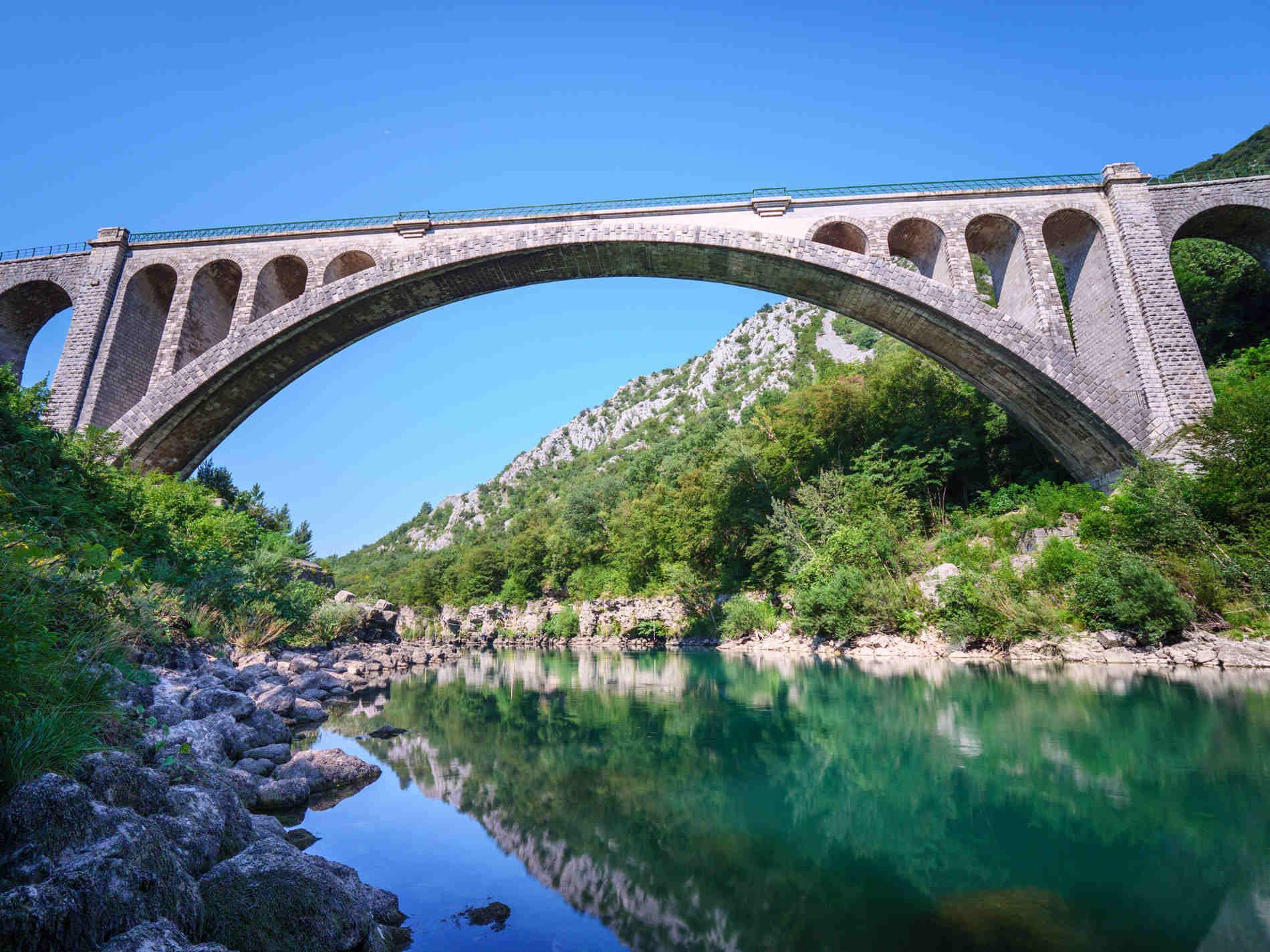 Solkanski most: il ponte di Solkan sull'Isonzo in Slovenia da vedere