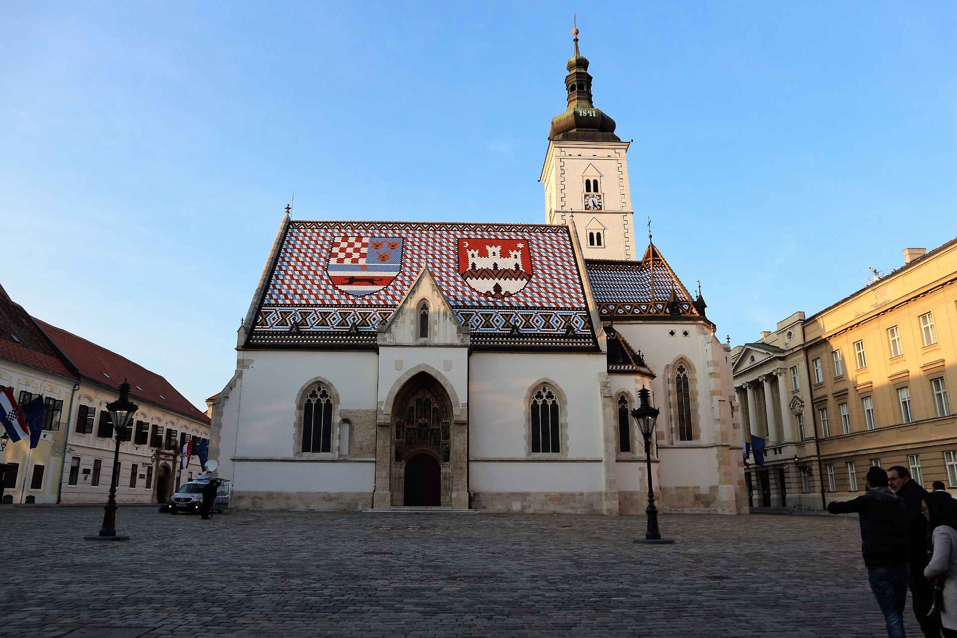 Città e capitali europee da vitare Zagabria Chiesa di San Marko