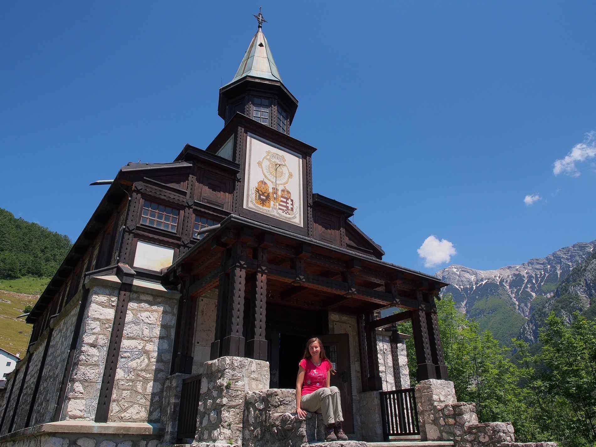 Viaggio in Slovenia - La chiesa della Javorca