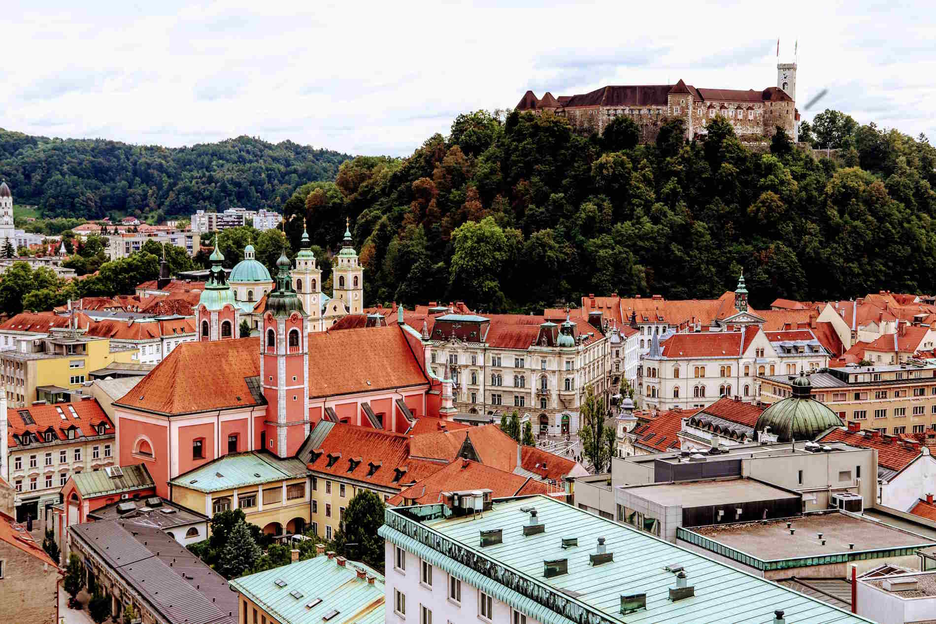 Centro storico di Ljubljana (Lubiana) in Slovenia