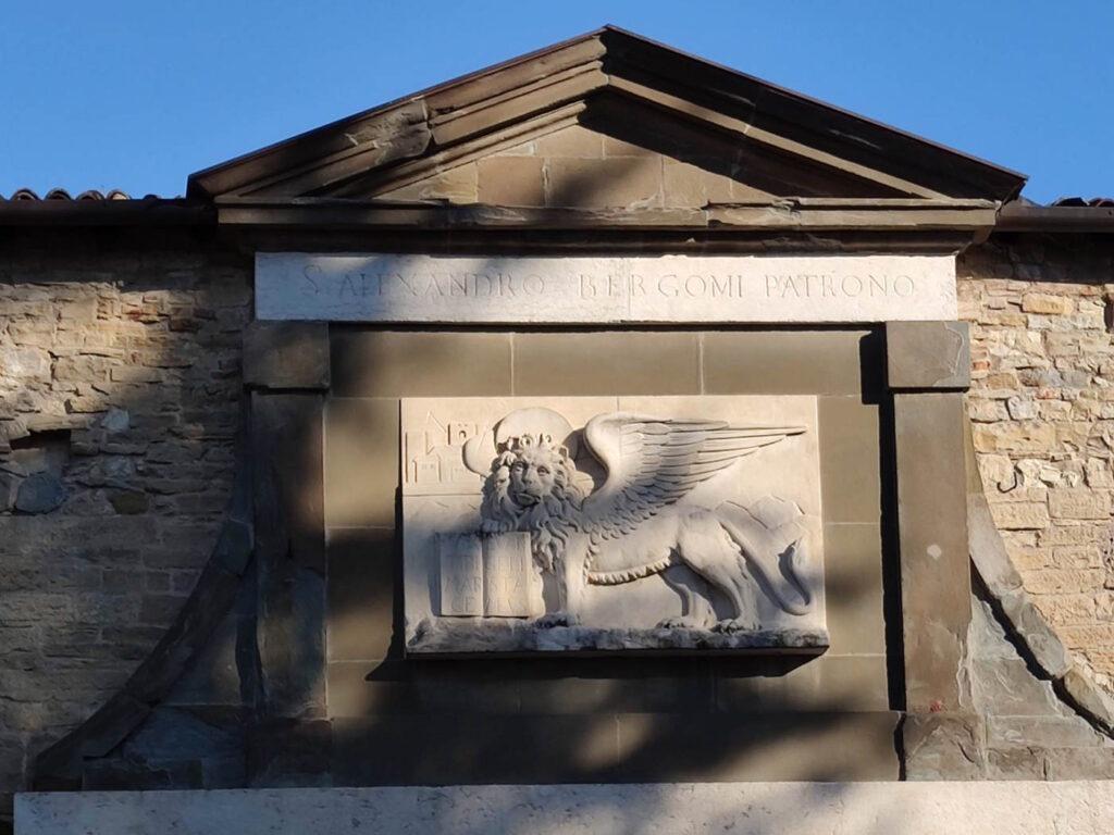 Leone di San Marco su Porta Sant'Alessandro Bergamo